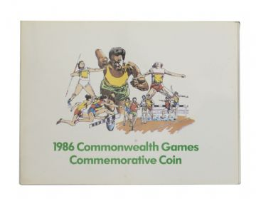 1986 £2 Common Wealth Games Brilliant Uncirculated pack - Dairy Crest